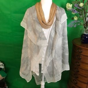 Set of 2 scarves - one is larger, can be shawl